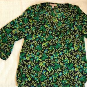 Floral 3/4 sleeve blouse